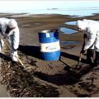 , Ликвидированы последствия разлива мазута на береговой черте островов Кургальского рифа