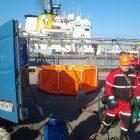 Учение в зоне ответственности ООО «РосЭстПетронал» на причале №1 ПЧ в морском порту «Усть-Луга»