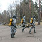 Тренировка на территории филиала ООО «Газпром трансгаз Санкт-Петербург»